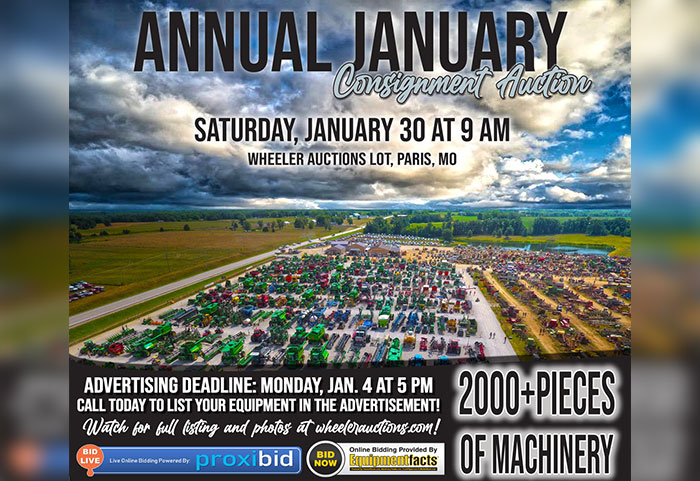 Annual January Consignment Auction | Saturday, January 30th, 2021 at 9 AM