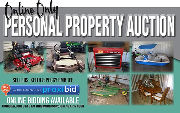 Online Only Personal Property Auction